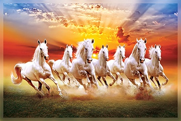 Where Should The Seven Horse Painting Be Placed In A House Quora White Horse Painting Horse Canvas Painting Seven Horses Painting