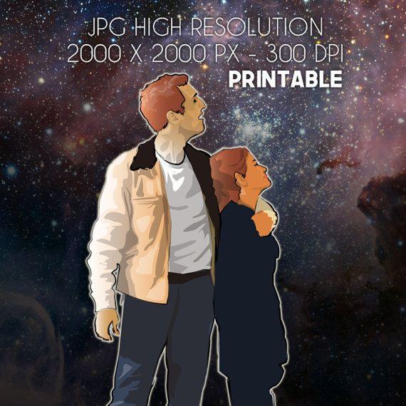 JPG HIGH RESOLUTION 300 DPI PRINTABLE #Interstellar #etsy #giart #printables