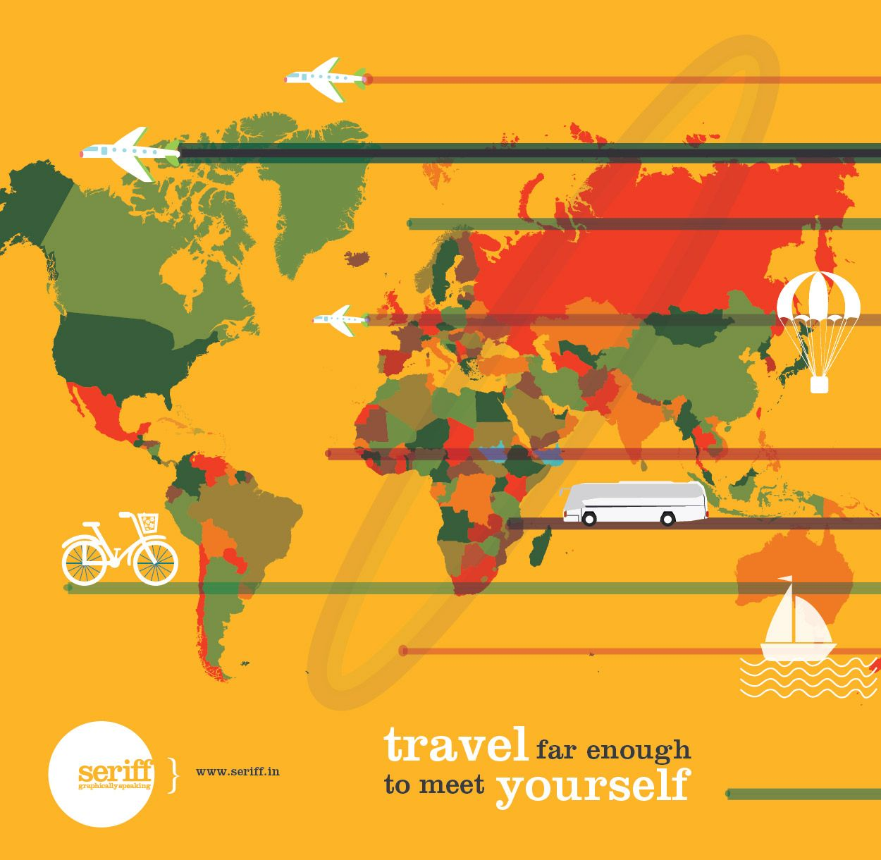 Holiday! #summer #holidays #vacation #time #travel #countries #trasport #airplane #buses #ship #parachute #graphicdesign #Seriff
