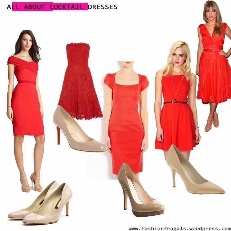 Red cocktail dress what color shoes