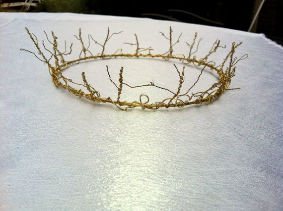 Woodland Wire Crown Princess And Fairy Crown By Wireprincess 60 00 Wire Crown Wire Work Jewelry Diy Hair Accessories
