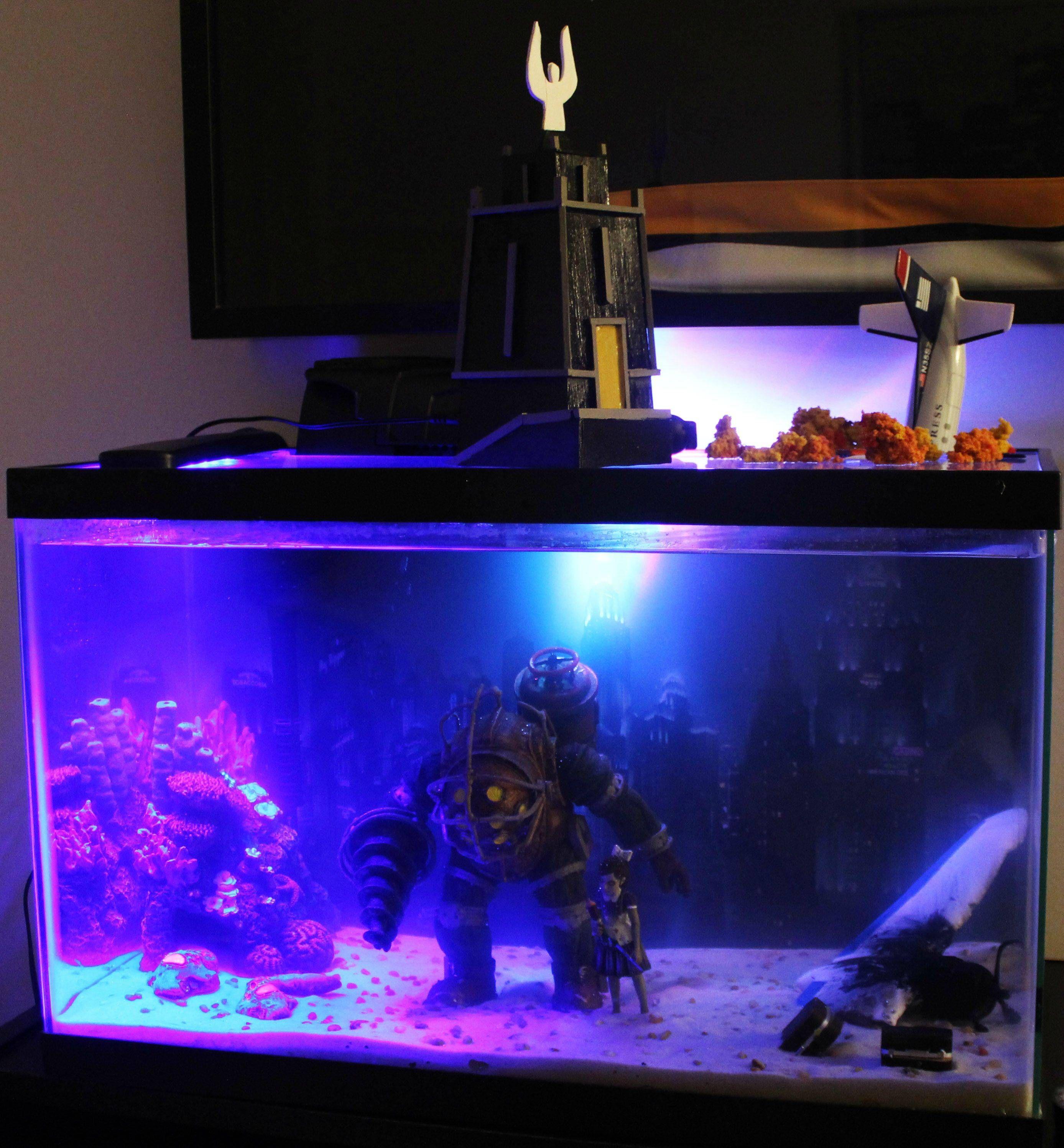 Bioshock Aquarium Fish Tank via Reddit user fryest Fish