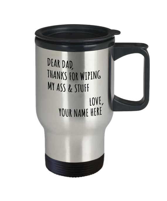 Personalized Dad Coffee Travel Mug Gift From Son- Dad Birthday Gift From Son - Dad Christmas Gift -
