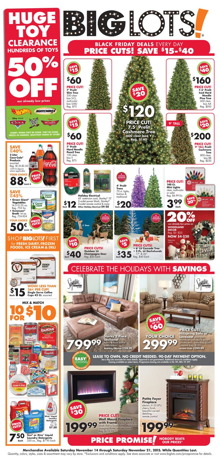 Big lots furniture november 8 14 2015 weekly ads and