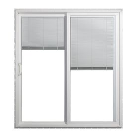 jeld wen 59 5 in blinds between the glass white vinyl sliding