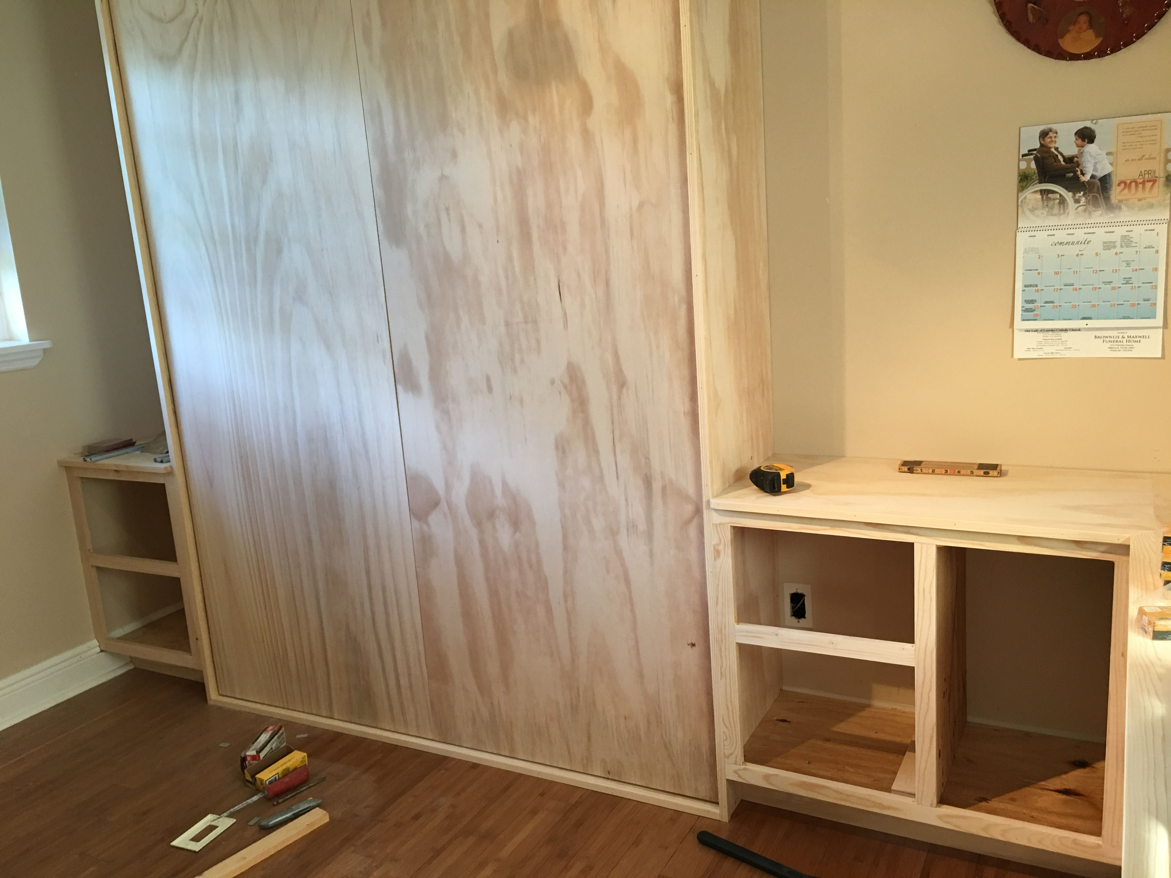 I Semble Vertical Mount Murphy Bed Hardware Kits With Mattress