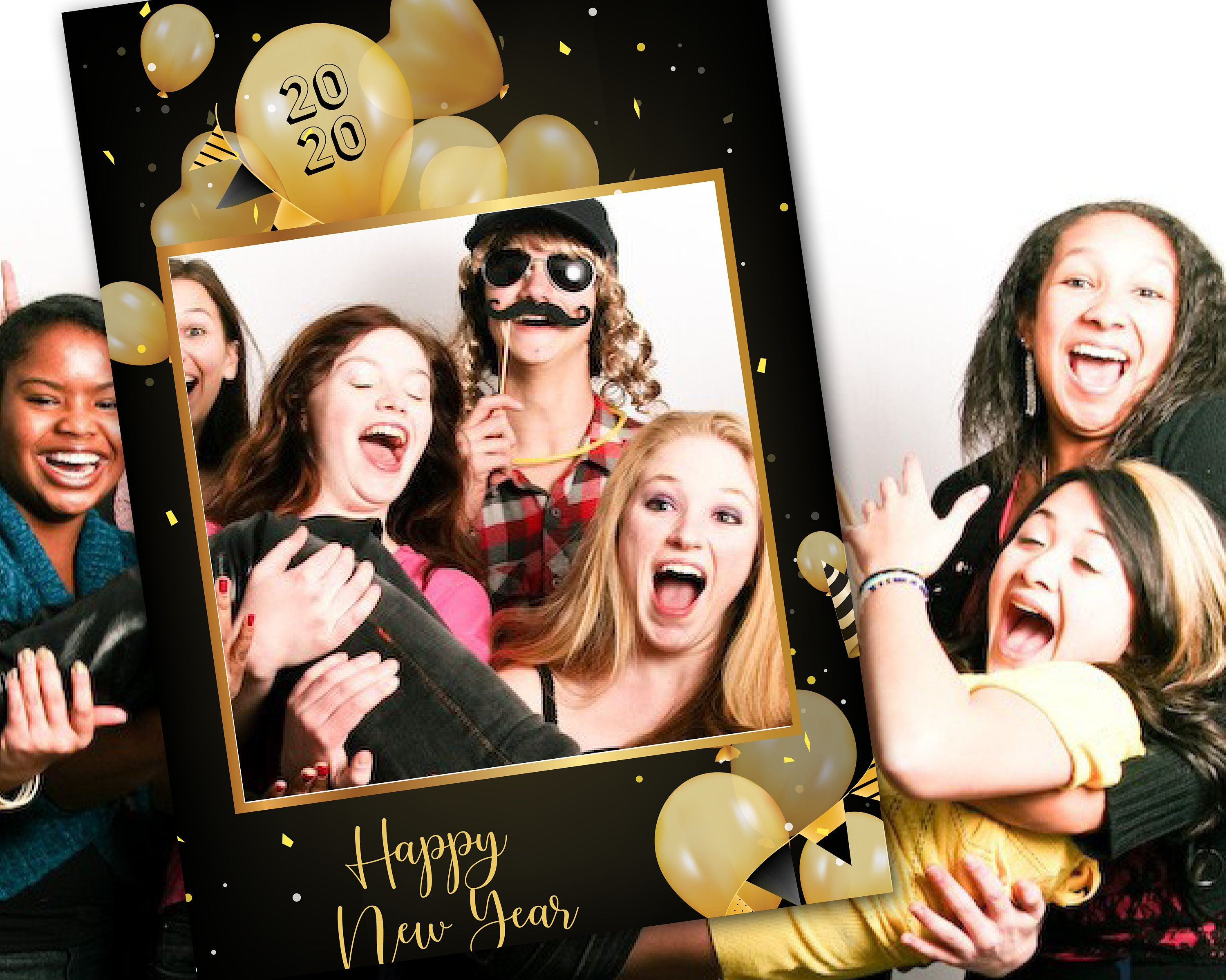 Photo Booth Selfie Frame New Year's Eve Party Fun 2020