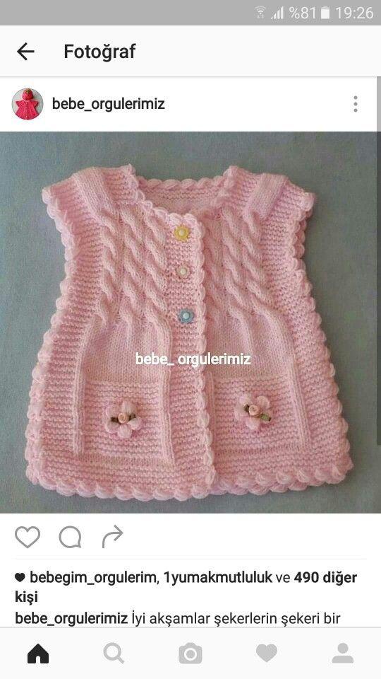 Pin de NALAN en KNITTING | Pinterest | Vestido infantil, Pequeños y ...