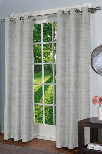 Design Decor Raw Silk Curtain Panel Off White By Design Decor