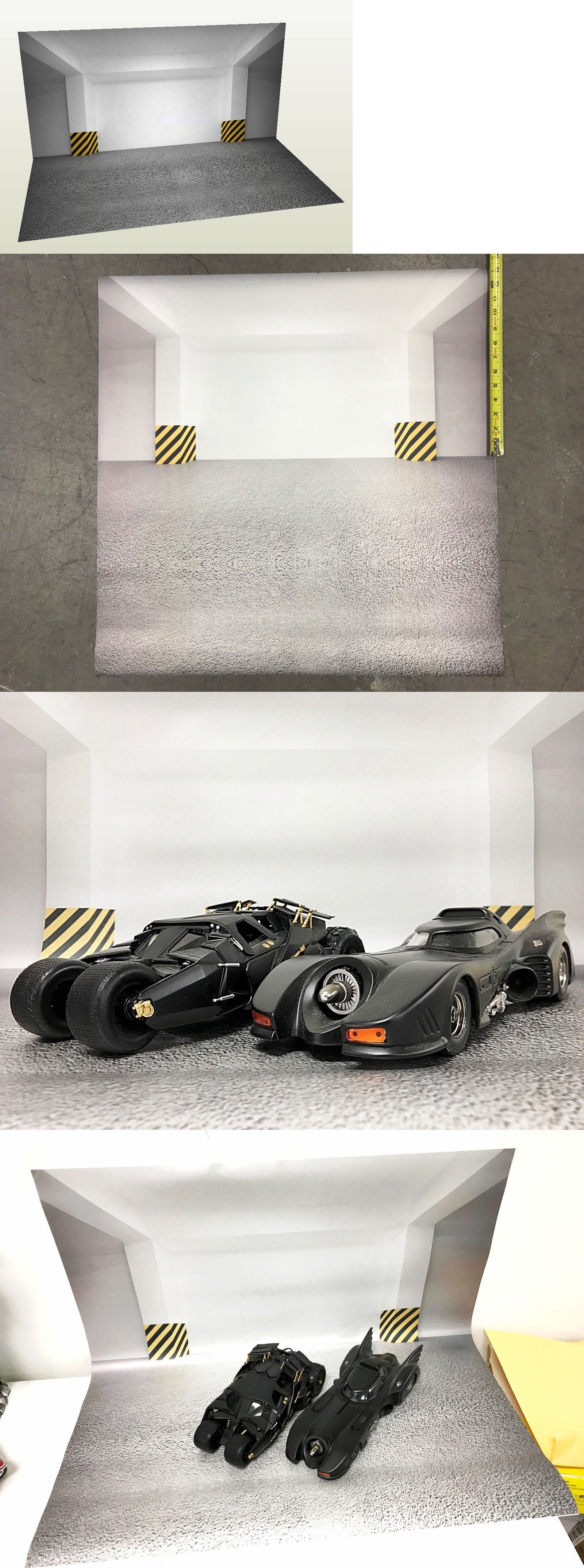 Toys car garage  FIGFG FIGLot  scale Toy Photography Backdrop for model