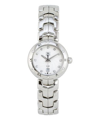 Look what I found on #zulily! Silver & Diamond Calibre 7 Guilloché Link Watch by TAG Heuer #zulilyfinds