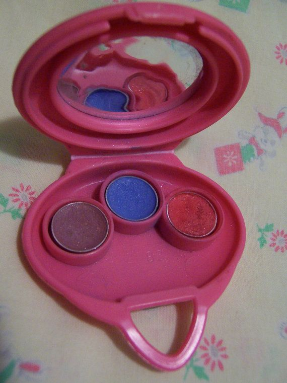 1982 mattel barbie eyeshadow compact by ricracandbuttons on Etsy
