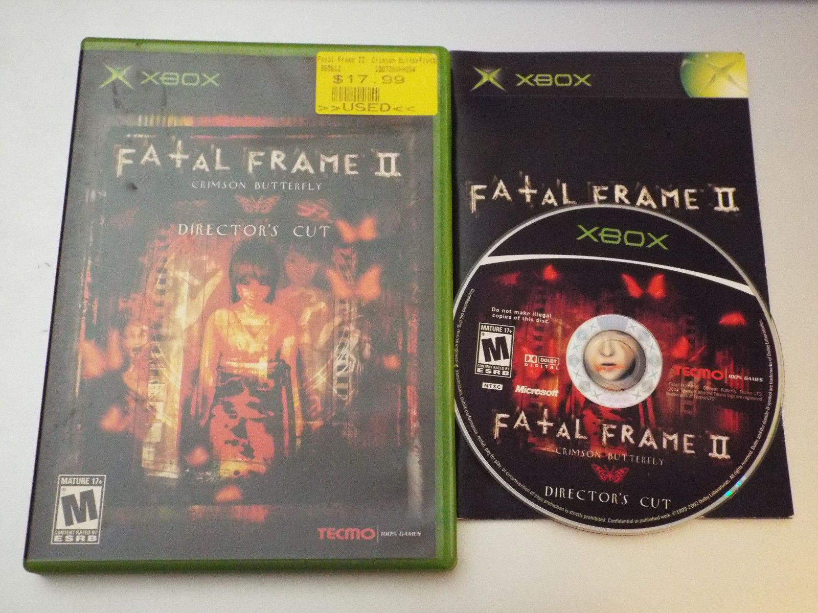 Xbox Fatal Frame II: The Crimson Butterfly -- Director\'s Cut | Fatal ...