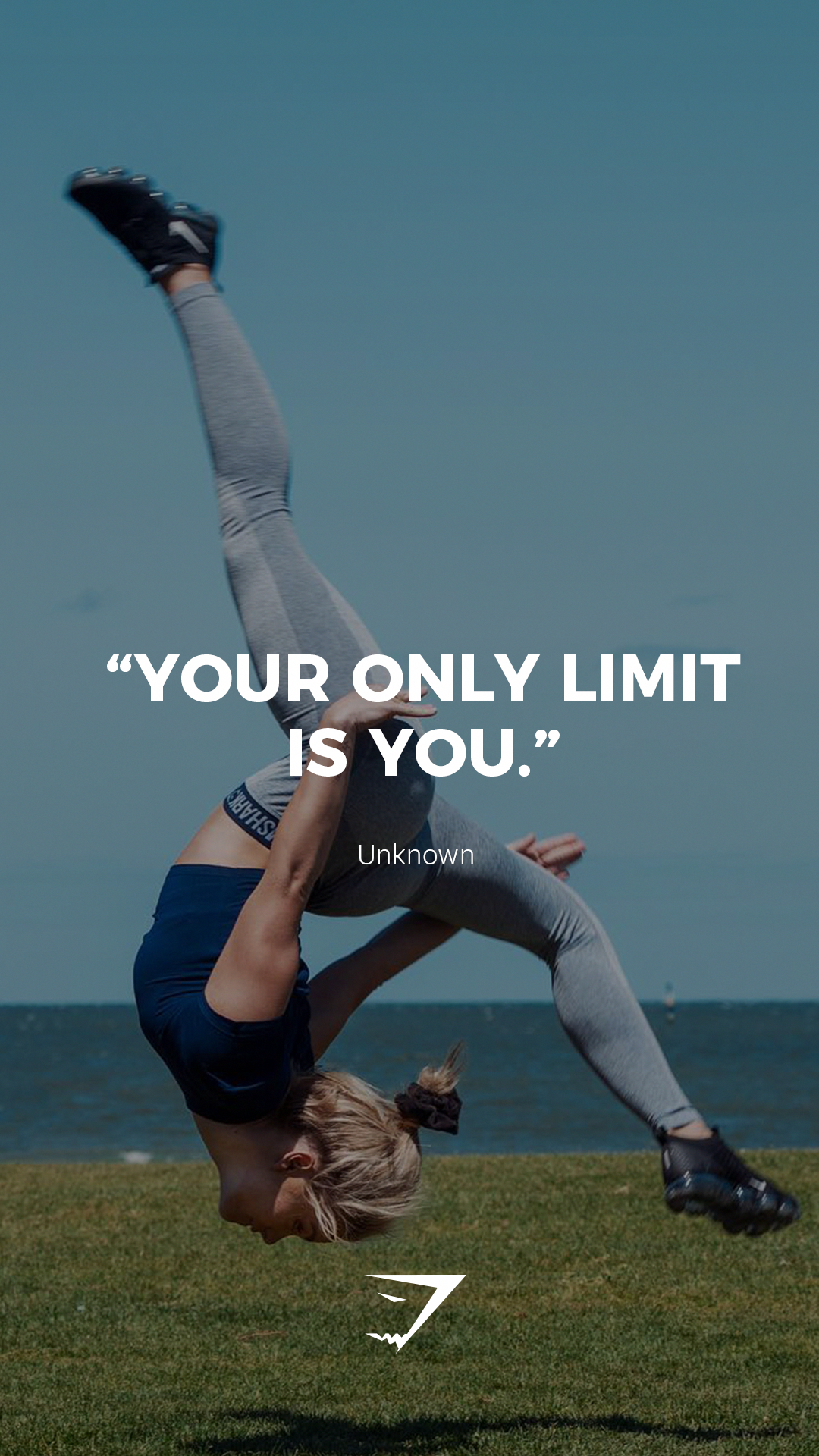 """Your only limit is you."" - Unknown. #Gymshark #Quotes #Motivational #Inspiration #Motivate #Phrases..."