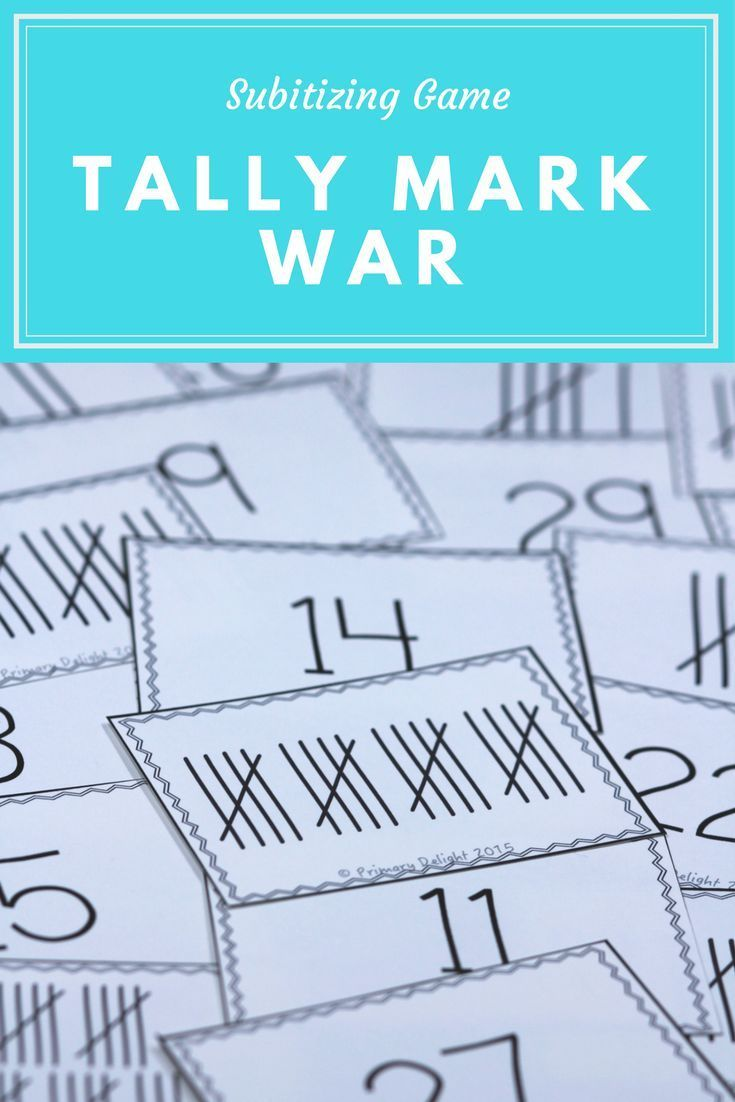 Tally Mark War (A Number Sense Game) | Tally marks, Subitizing and ...