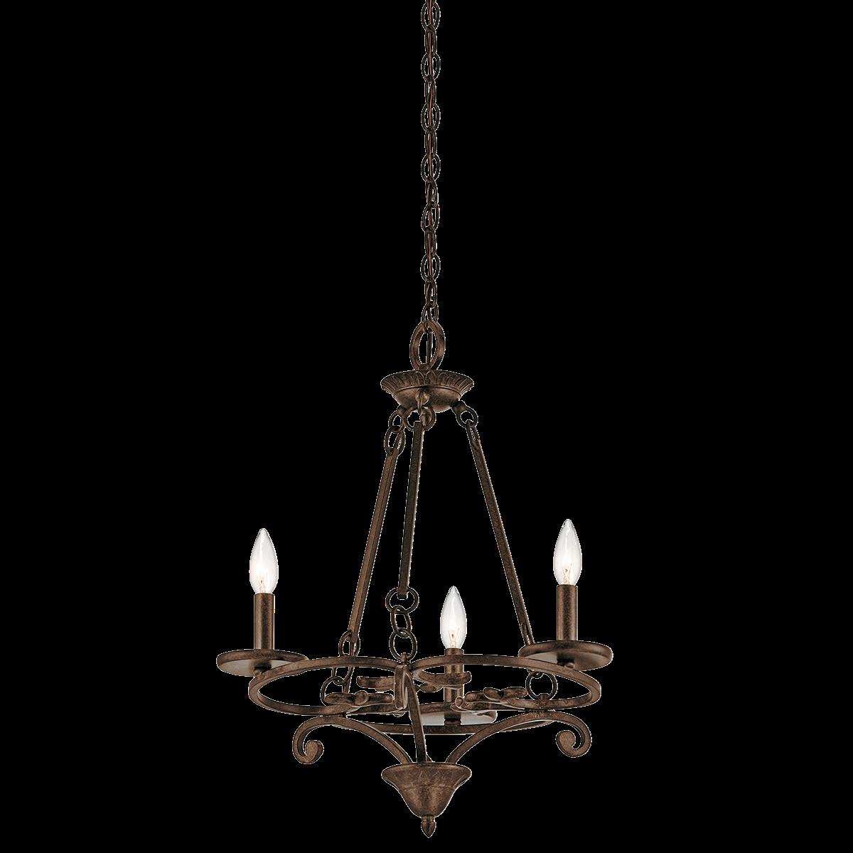 Caldella 3 light mini chandelier in aged bronze kichler item caldella 3 light mini chandelier in aged bronze kichler item 43770agz aloadofball Gallery