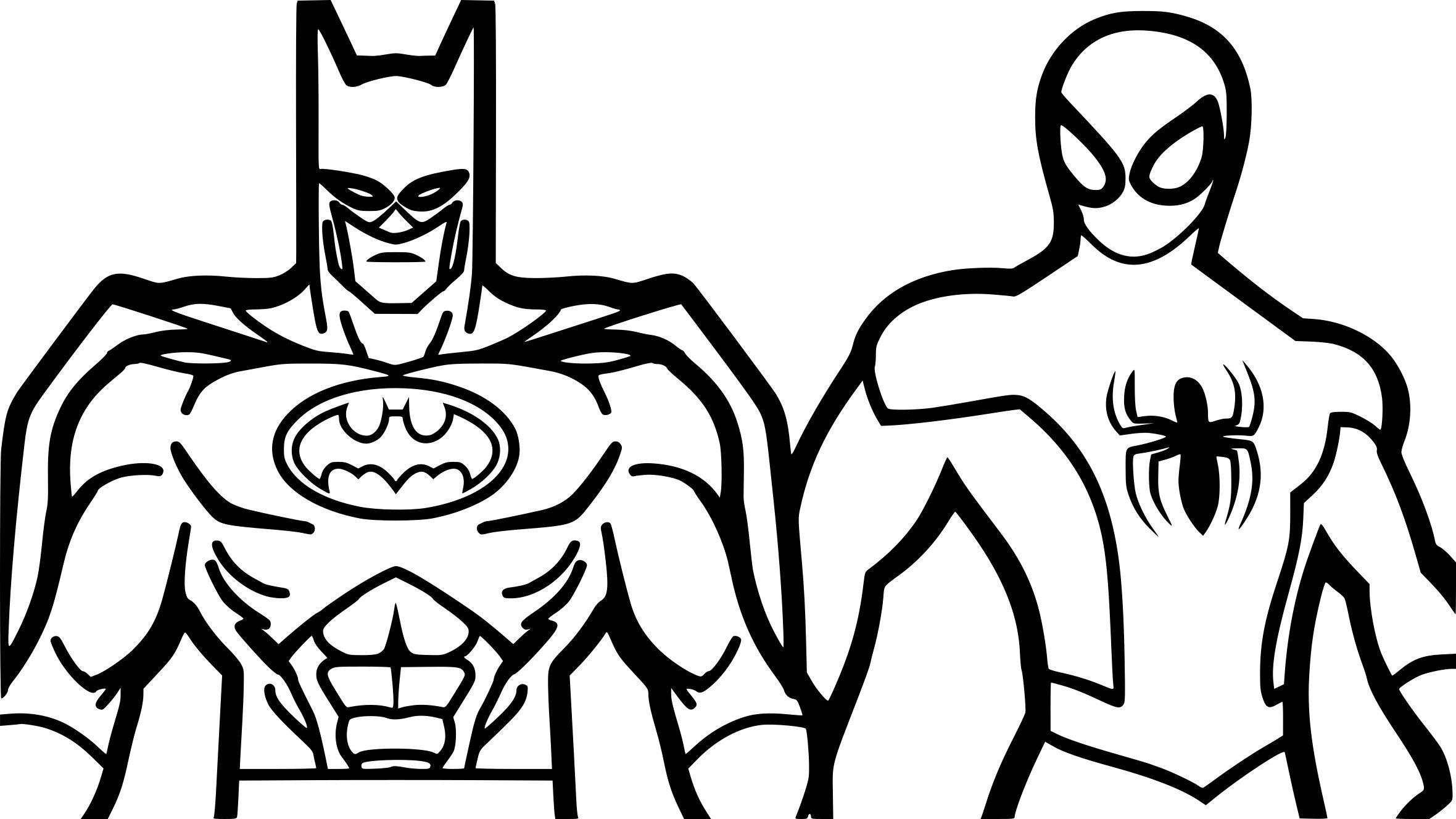 Coloriage Spiderman Et Batman A Imprimer Sur Coloriages
