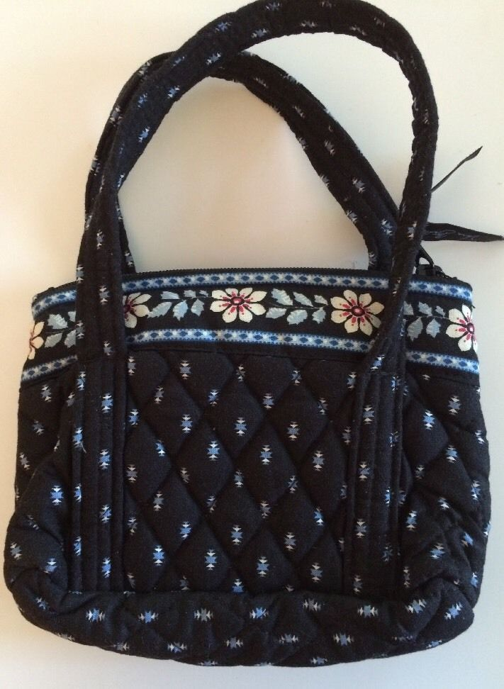 Vera Bradley Alpine Black Bitty Betsy Small Handbag Children Retired Usa Ebay