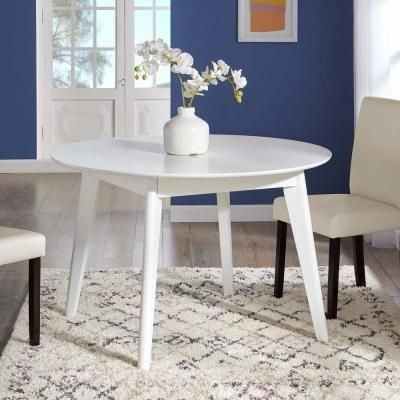 Modway Vision 45 Round Dining Table In White In 2020 Dining