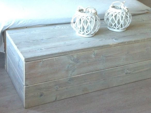 steigerhout voeten hocker | Slaapkamer | Pinterest