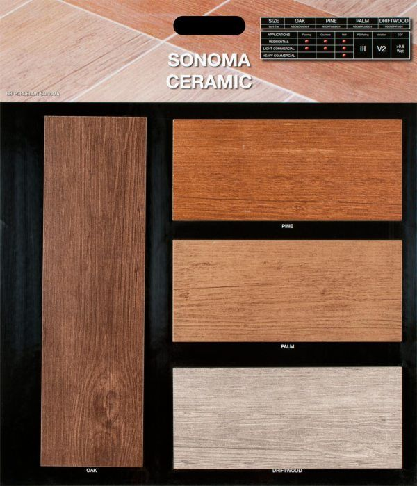 Sonoma Pine 6 In X 24 Glazed Ceramic Floor And Wall Tile