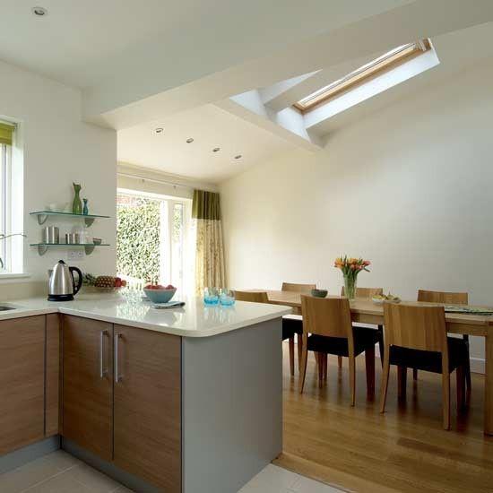 küche mit essbereich dachfenster dachschräge holzstühle Küche - k che mit dachschr ge