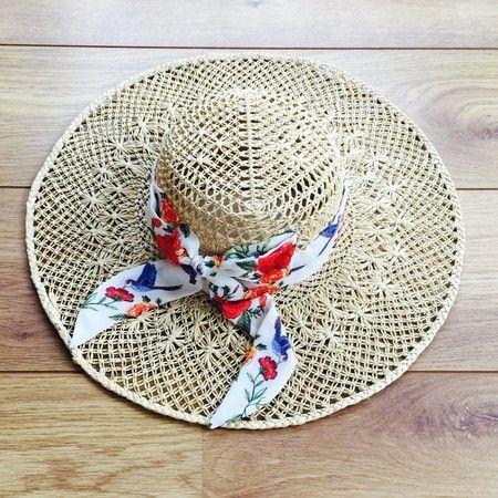 Chapéu de praia macramê Flor de Tatoo