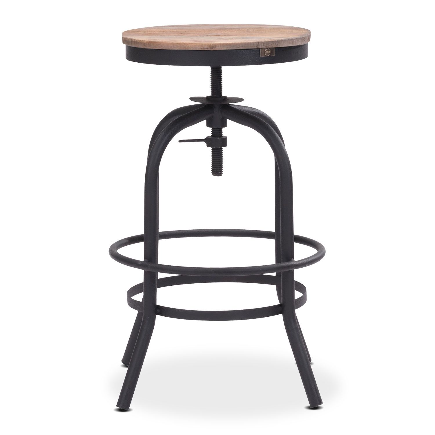 Surprising Elston Adjustable Backless Counter Height Stool Value City Theyellowbook Wood Chair Design Ideas Theyellowbookinfo