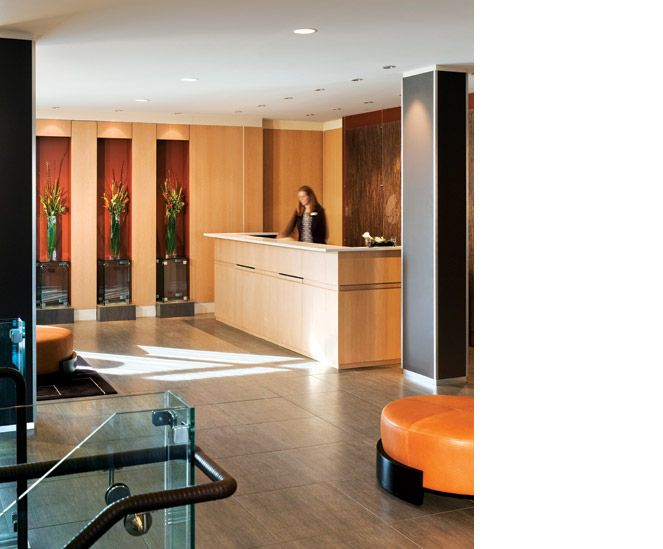 Lobby. Hotel Indigo. Design by Jacqueline McGee