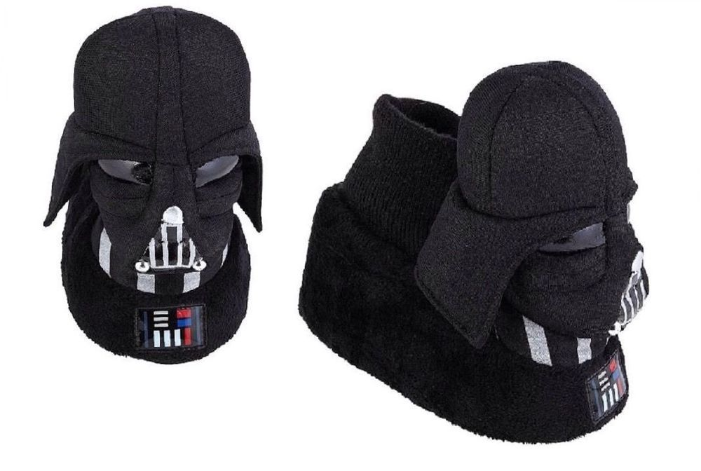 7bc0cffdbb Star Wars Darth Vader Slippers Toddler Size 7 8 9 10 Black Sock Top   StarWars  Slippers