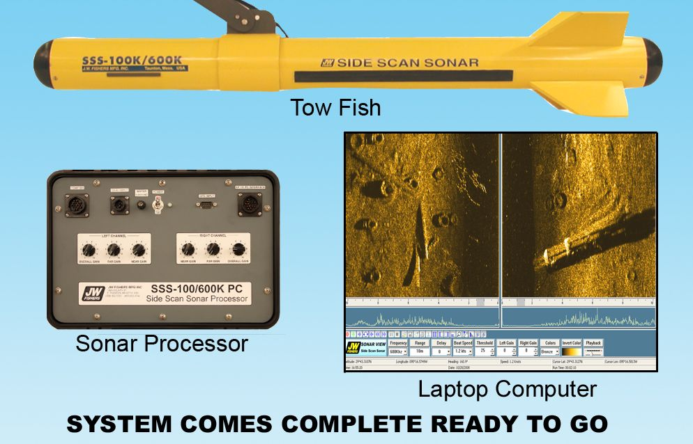 Side Scan Sonar System Produces High Resolution Images Of Any Objects On The Sea Floor