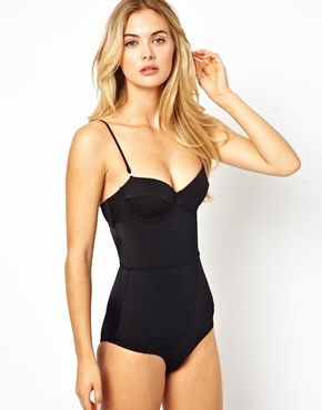 2dbd9403432f1 sexy one piece swimsuit. Asos - River Island Bustier Swimsuit With Tummy  Control