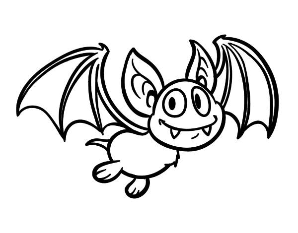 Dibujo de Murciélago   vampiro para colorear | Pa dibujar en 2019