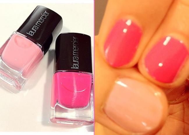 Laura Mercier launches a nail collection this month!! Beautiful pinks to fall in love with.