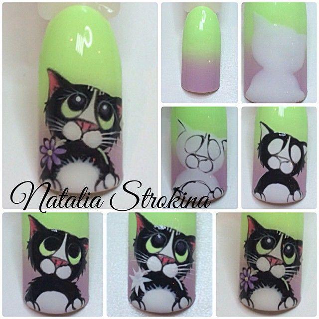 Pin de Nail Art Painter en Tutoriales de uñas | Pinterest | Diseños ...