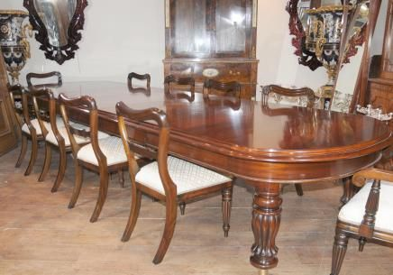 Lovely Mahogany Victorian Dining Table Chairs Set