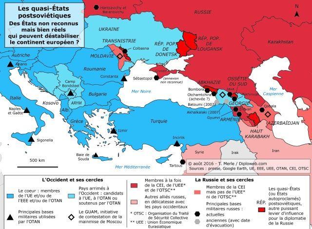 Au Dela De La Crise Ukrainienne Les Etats Autoproclames Post Sovietiques Angles Morts Du Voisinage De L Ue Mer Noire Les Continents Caspienne