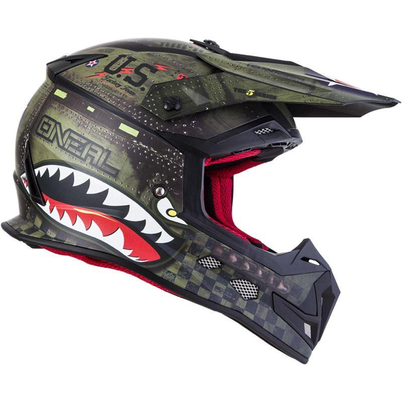 Oneal 2020 5 Series Warhawk Black Green Helmet Helmet Motocross