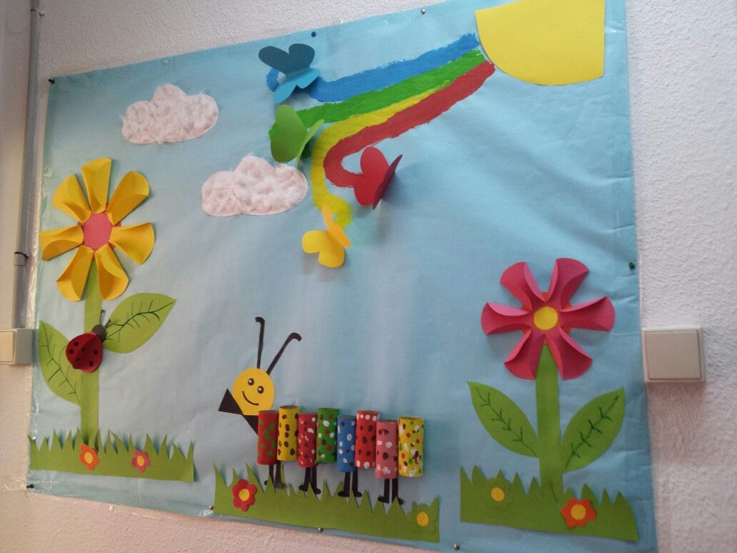 mural primavera. .. gracias a otros murales | IDEAS ESCOLARES ...