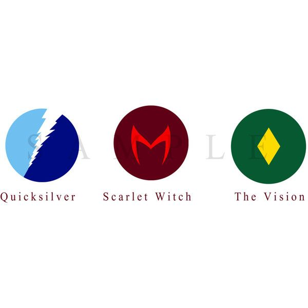 quicksilver, scarlet witch, and the vision ($1.51) ❤ liked on