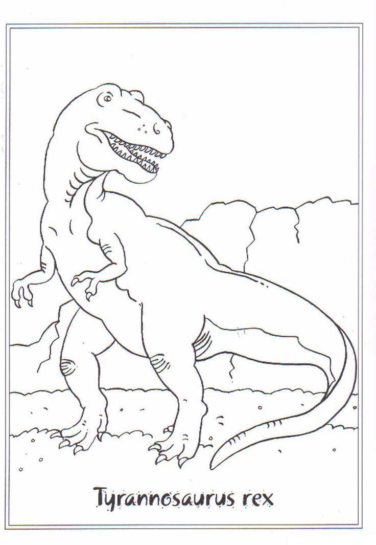 kidsnfunde  ausmalbild dinosaurier 2 tyrannosa