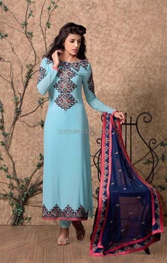 Different styles pakistani straight dresses designs salwar kameez ...
