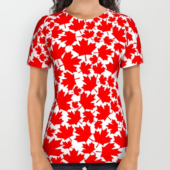 Canadian fall / Canadian flag maple leaf pattern All Over Print Shirt by GrandeDuc | Society6
