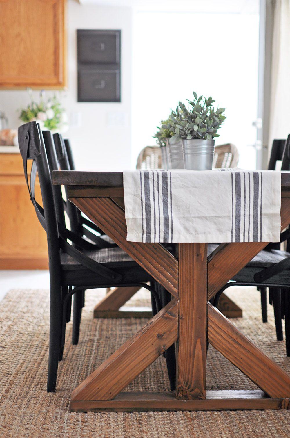 X Brace Farmhouse Table Farmhouse table plans, Farmhouse