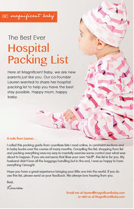 Hospital Packing List at Magnificent Baby Baby Pinterest