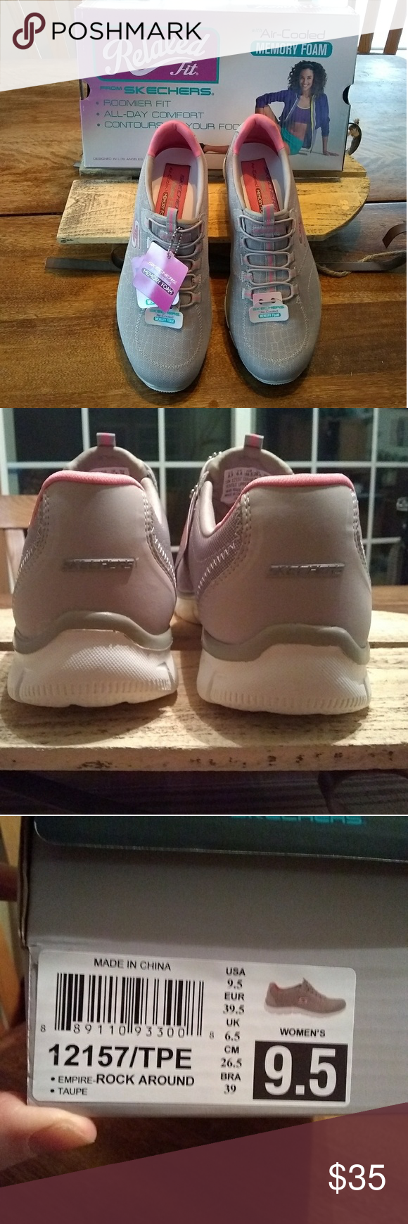 Skechers Relaxed Fit Sneakers Size 9.5