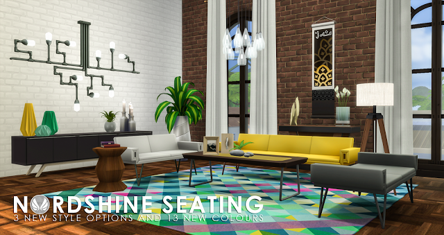 Recolors And Additional Designs That Match The City Living Sofas Living Room Sims 4 City Living Sims 4 City Living