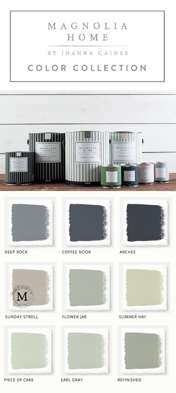 this collection of magnolia home paint from designer joanna