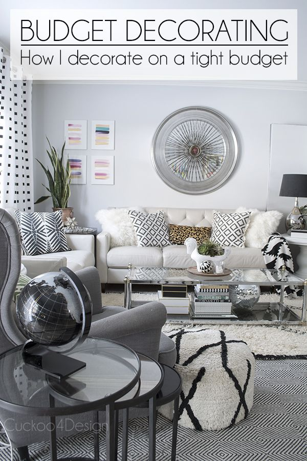 How to decorate on a very tight budget cuckoo 4 my blog Decorating living room on a tight budget