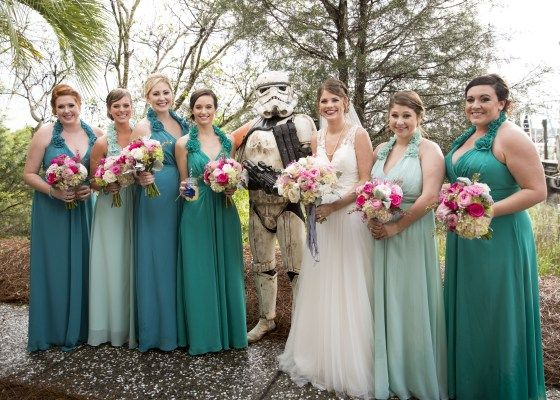 Wedding Cocktail Hour Star Wars Surprise! There was a storm trooper at our reception! - Charleston Crafted